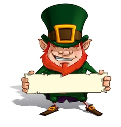 St Patrick Holding a Label vector image