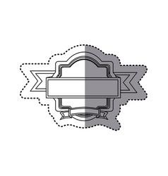 sticker silhouette heraldic ornament with ribbon vector image vector image