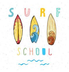 surf boards hand drawn sketch t-shirt print vector image vector image