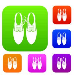 tied laces on shoes joke set collection vector image