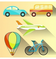 Transportation flat icon vector image vector image