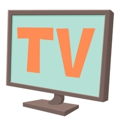 Tv screen icon cartoon style vector