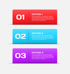 Web banners infographic elements vector image