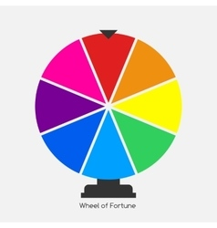 Wheel of Fortune Lucky Icon vector image vector image