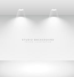 minimal studio background vector image