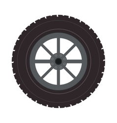 Wheel car automobile design vector