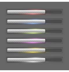 Progress bars collection vector image