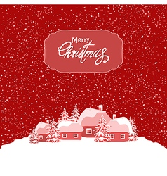 Holiday christmas card vector