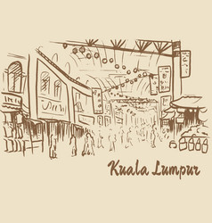 sketch of chinatown vector image