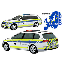 Slovenia police car vector