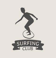 Surfing club logo icon or symbol man surfer vector
