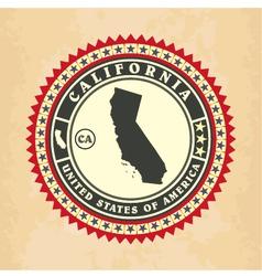 Vintage label-sticker cards of california vector