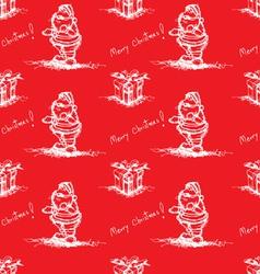 red seamless pattern santa claus vector image