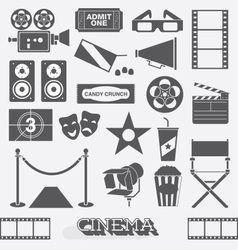 Cinema and movie icons and elements vector