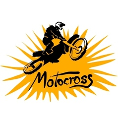 Motocross picture vector image