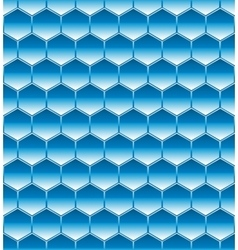 Hexagone seamless blue vector