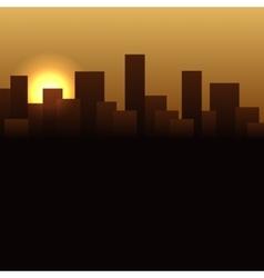 Sunrise Buildings Landscape Urban vector image