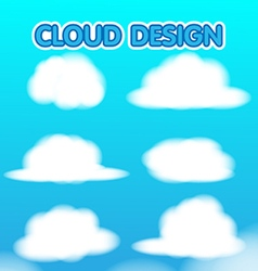 Cloud design set blur sky vector