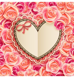 Valentines day vintage card vector