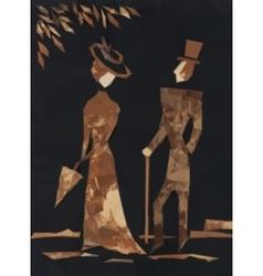 Gentleman and lady vector