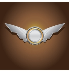 Metallic automotive motorcycle badge vector