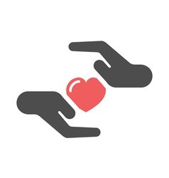 Heart care icon vector
