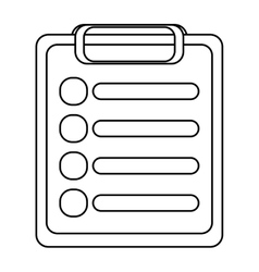 Clipboard with paper vector