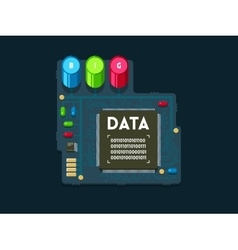 Big data technology concept vector