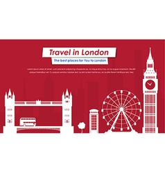 Site header design for tourism in london vector