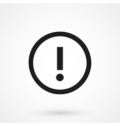 Attention icon black on white background vector