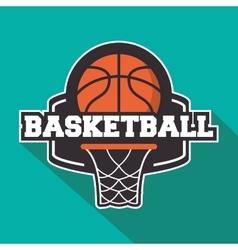 Ball of Basketball sport design vector image vector image