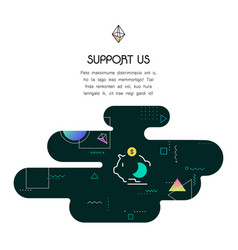 banner template with donation and support us icon vector image vector image