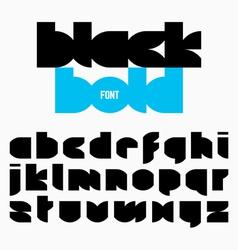 Black bold alphabet vector