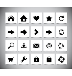 Black icons for web vector image