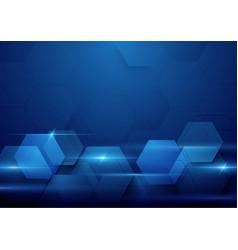 blue abstract technology digital hi tech concept vector image vector image