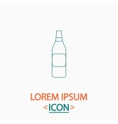 Bottle computer symbol vector