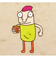 Cartoon Man with a Drink vector image vector image