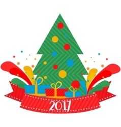 Christmas tree 2017 vector image