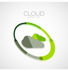 Cloud storage 3d company logo minimal design vector