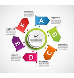 Design infographics with arrows in a circle for vector image vector image