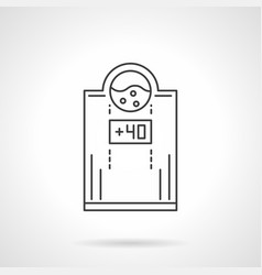 Electric water heater flat line icon vector
