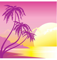 exotic sunset vector image vector image