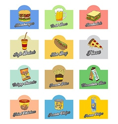 Food and drink theme art vector