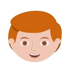 Front face redhead man hairstyle vector