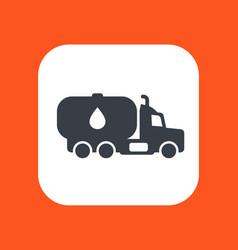 gasoline tanker truck with petroleum vector image