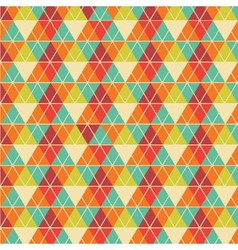 Geometric background in vintage colors vector image
