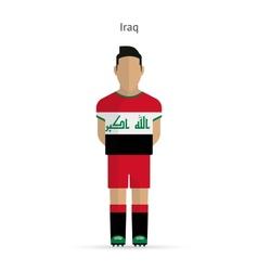 Iraq football player soccer uniform vector