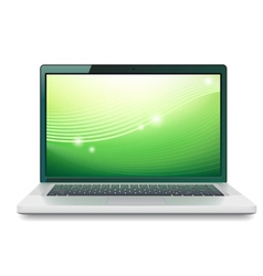 Laptop with abstract wallpaper vector image