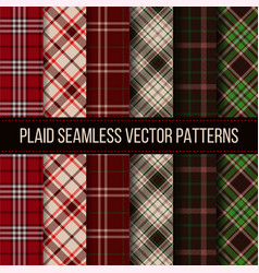 Lumberjack plaid buffalo check gingham seamless vector