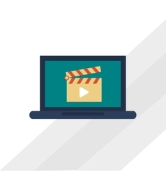 movie and laptop design vector image vector image